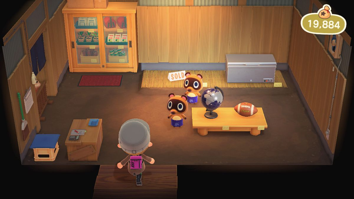 Timmy y Tommy en Animal Crossing New Horizons 'Nook's Cranny store