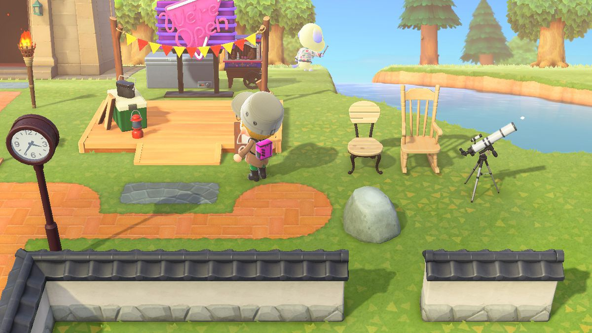 El campamento en Animal Crossing New Horizons