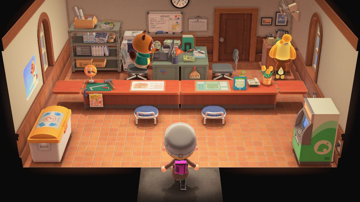 El edificio de servicios para residentes de Animal Crossing New Horizons