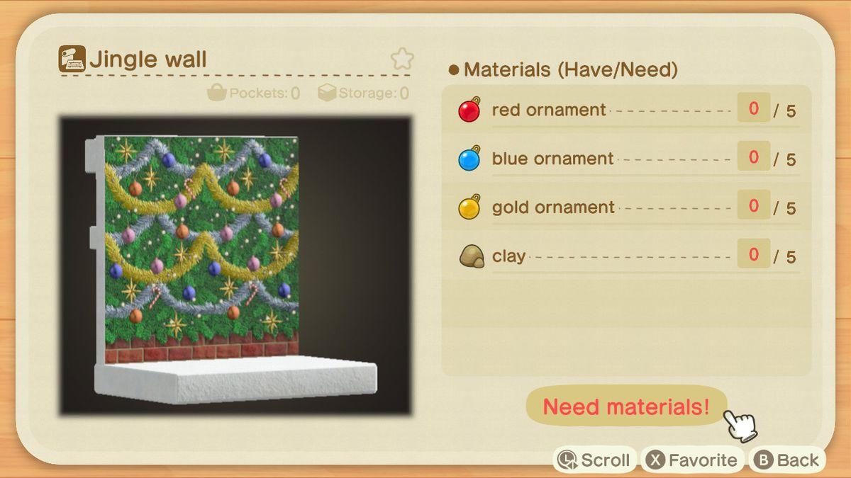 Una receta de Animal Crossing para un Jingle Wall