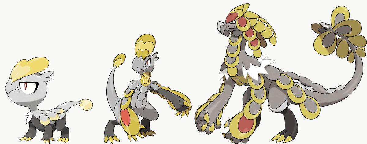 Jangmo-o, Hakamo-o y Kommo-o son exclusivos de Pokémon Sword