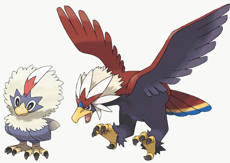 Rufflet y Braviary son exclusivos de Pokémon Sword