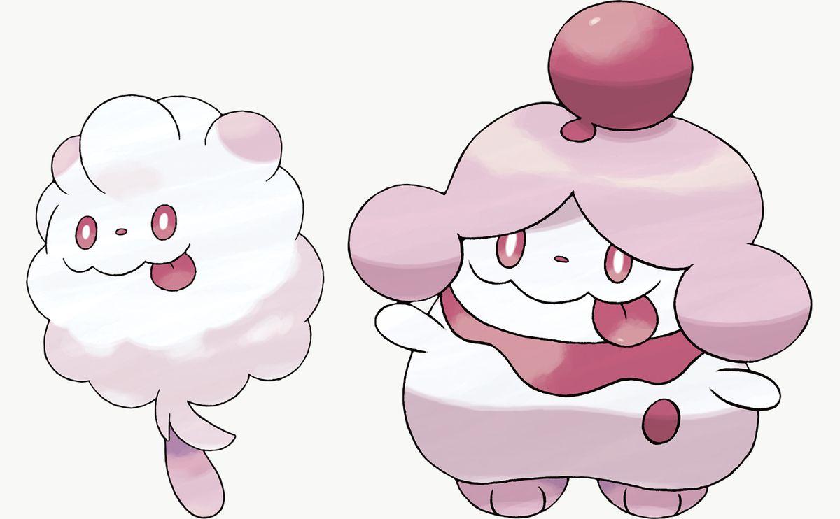 Swirlix y Slurpuff son exclusivos de Pokémon Sword