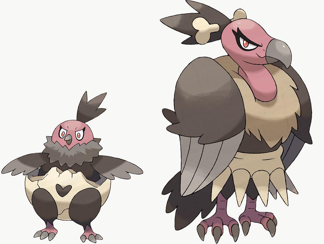 Vullaby y Mandibuzz son exclusivos de Pokémon Shield