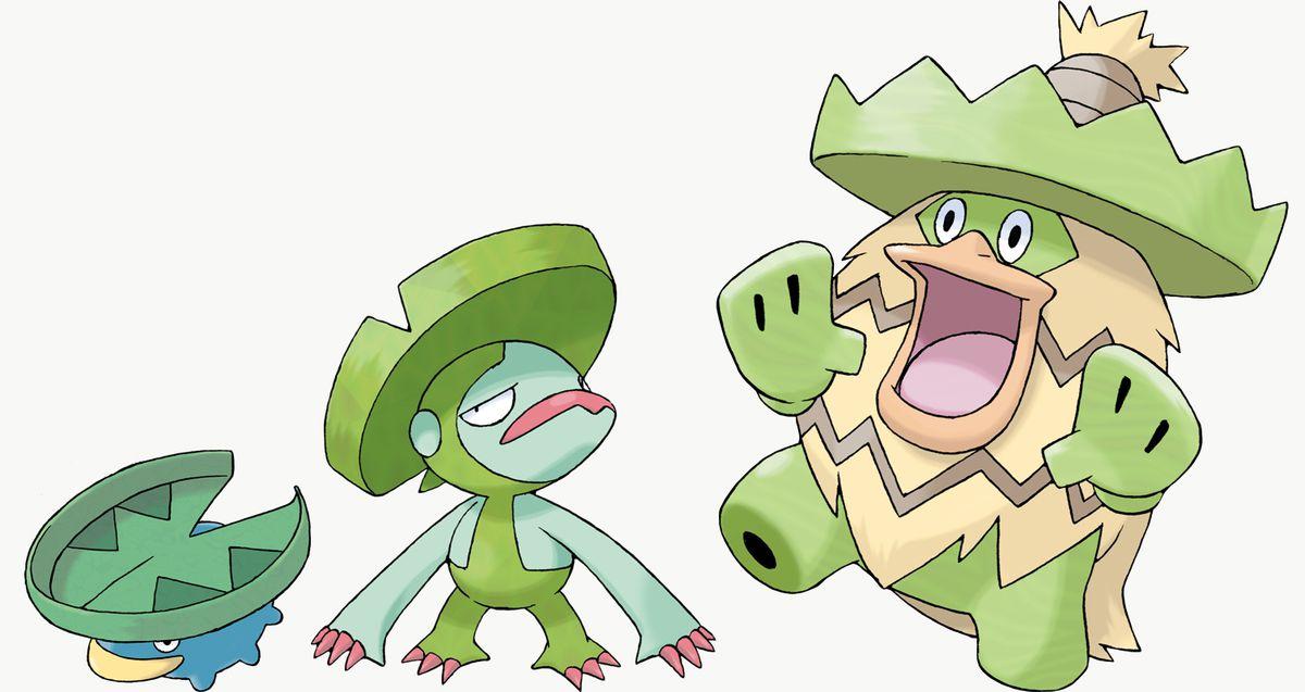 Lotad, Lombre y Ludicolo son exclusivos de Pokémon Shield