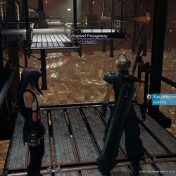 Después de que el puente caiga, ve al nivel inferior para obtener la Materia azul.