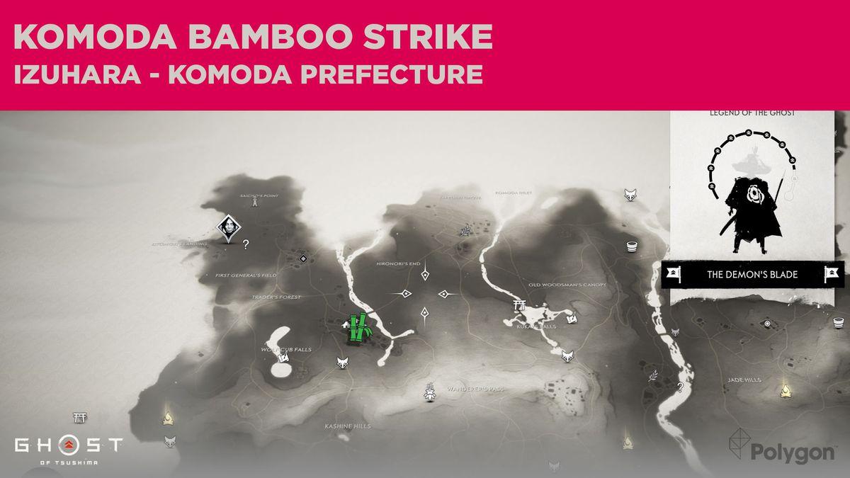 El sitio de Bamboo Strike en Komoda en Ghost of Tsushima