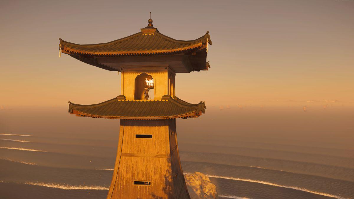 Un faro en Ghost of Tsushima