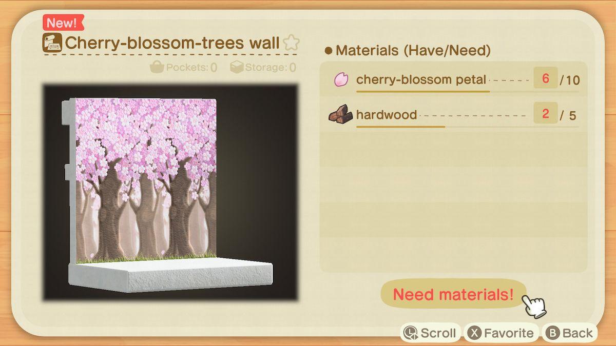 Una receta para un muro de cerezos en flor