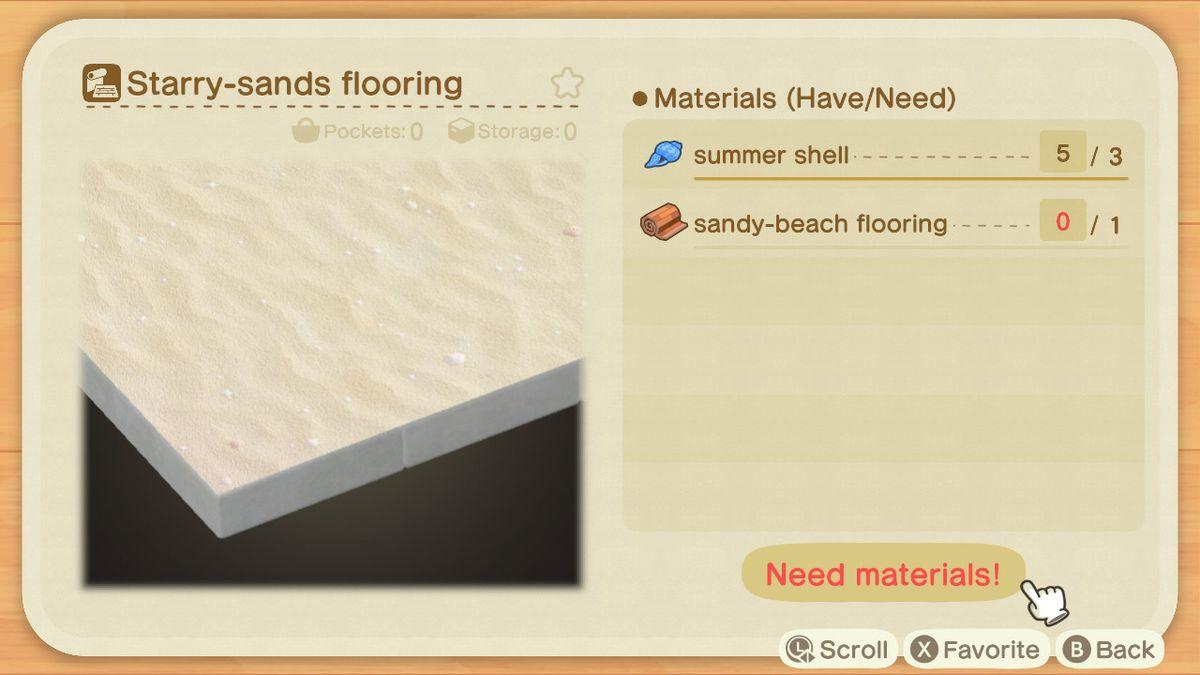 Una lista de recetas para un revestimiento de arena estrellada