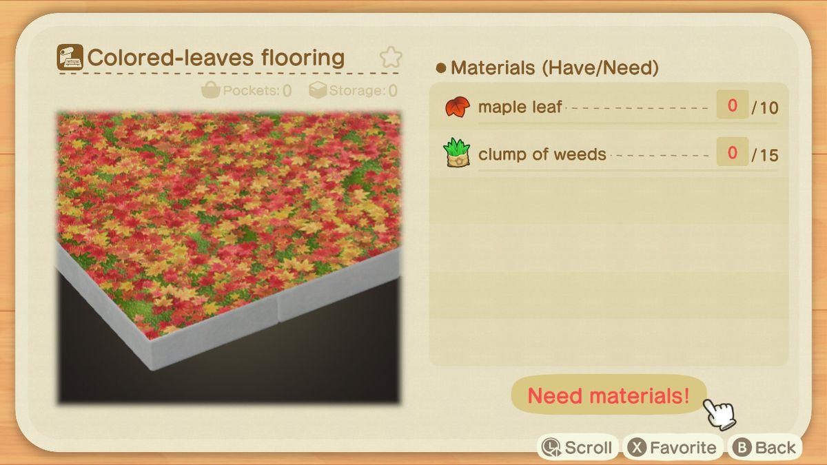 Una lista de recetas para un recubrimiento de hojas de color.