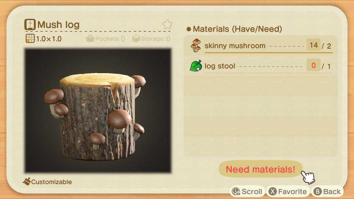 La receta para un Mush Log