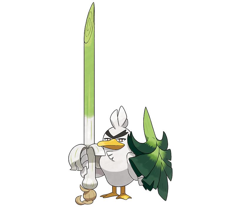 Sirfetch'd es exclusivo de Pokémon Sword