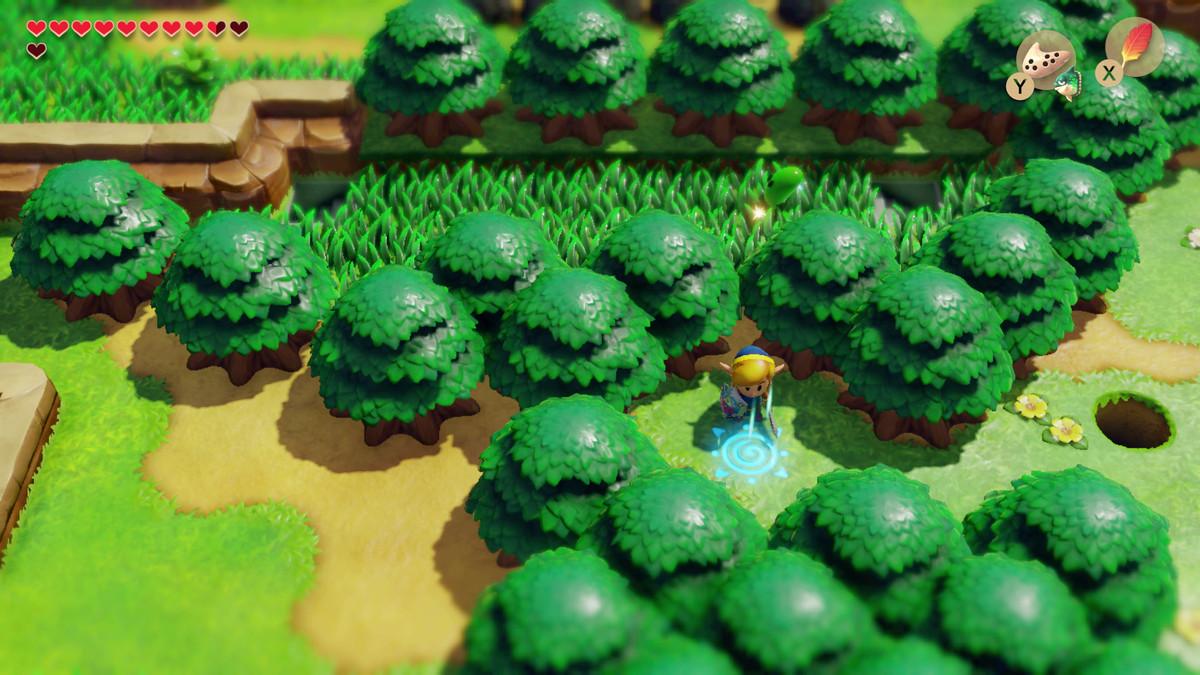 Link's Awakening activa la plataforma warp Martha's Bay