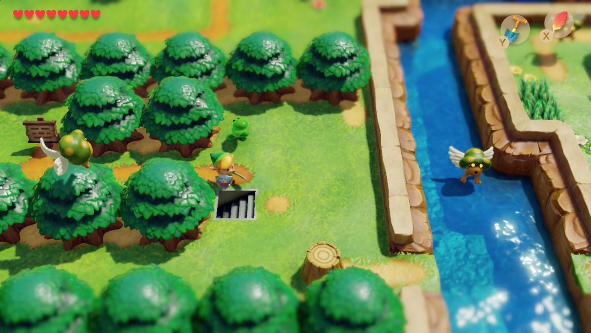 Escalera oculta de Link's Awakening a Animal Village