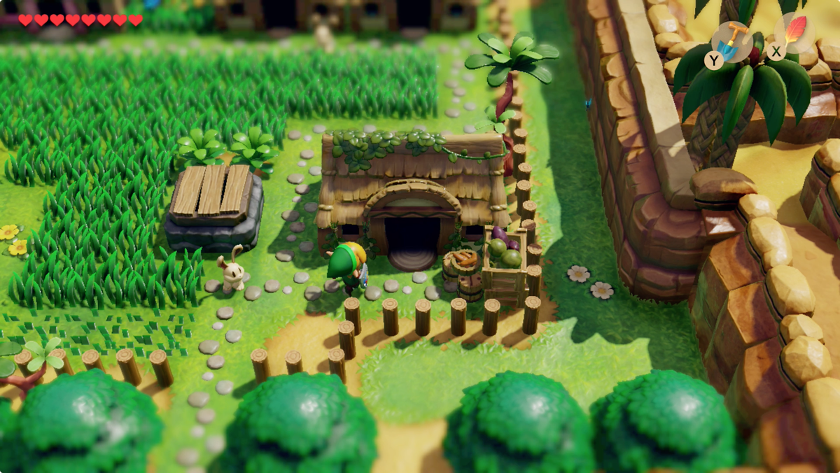 Ubicación de la casa del Chef Bear en Link's Awakening Animal Village