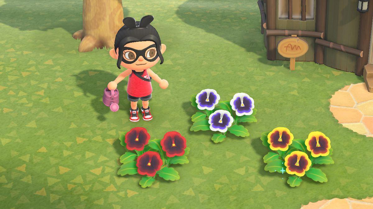 Un personaje de Animal Crossing está rodeado de varios pensamientos coloridos