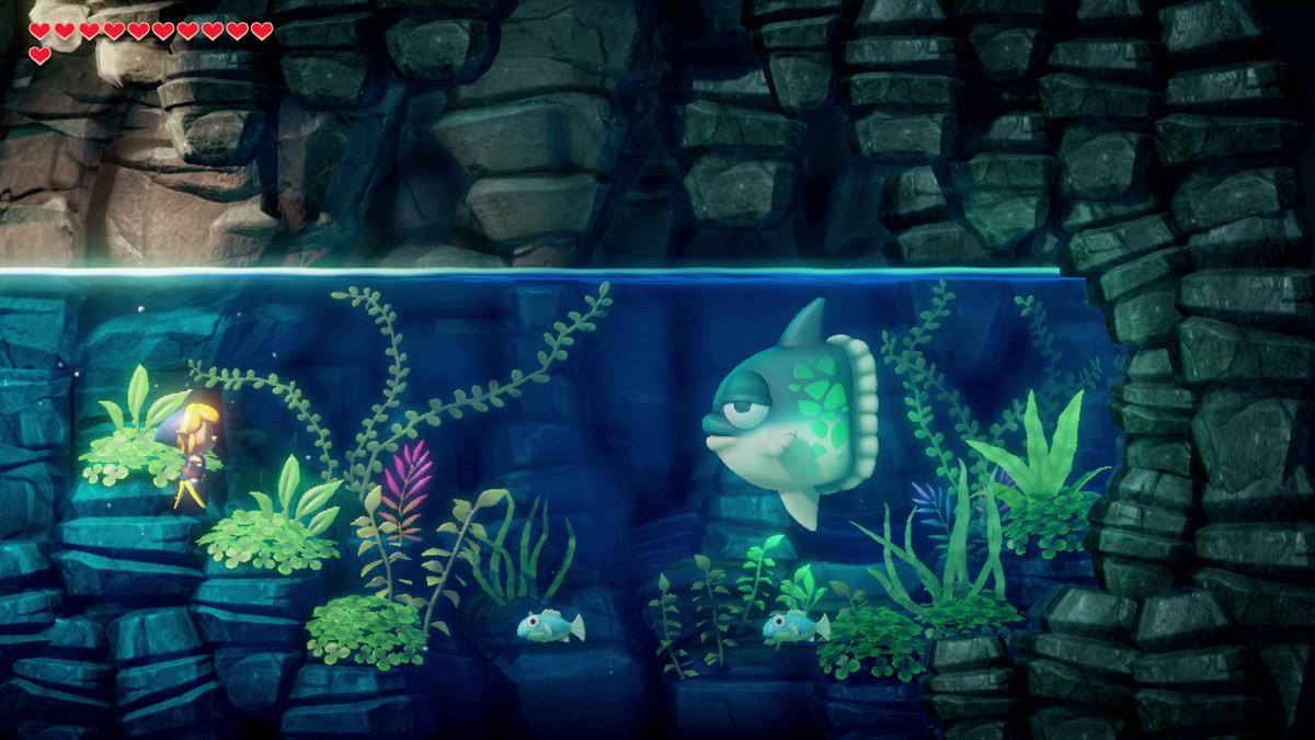 Link's Awakening Angler's Tunnel habla con Manbo