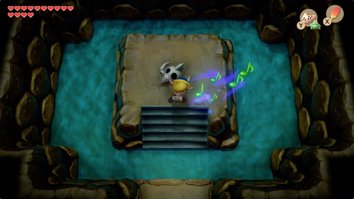 Link's Awakening Mabe Village Whirligig gallo volador Song of the frog's soul resucita