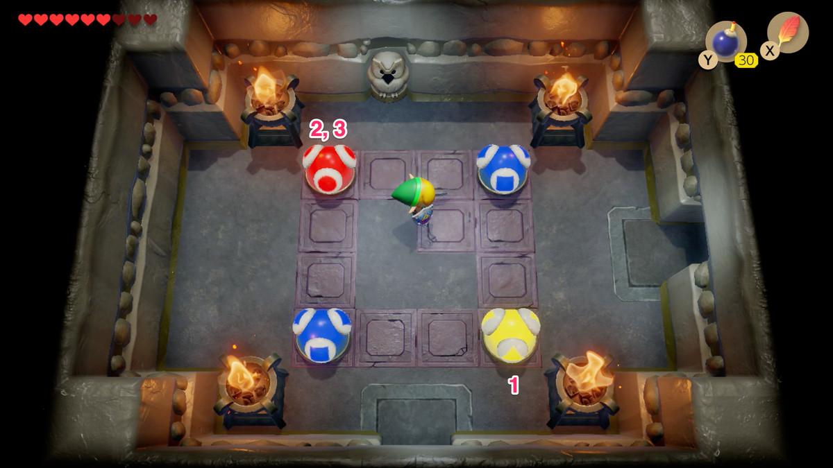 Link's Awakening Color Dungeon, segundo rompecabezas de bolas de colores