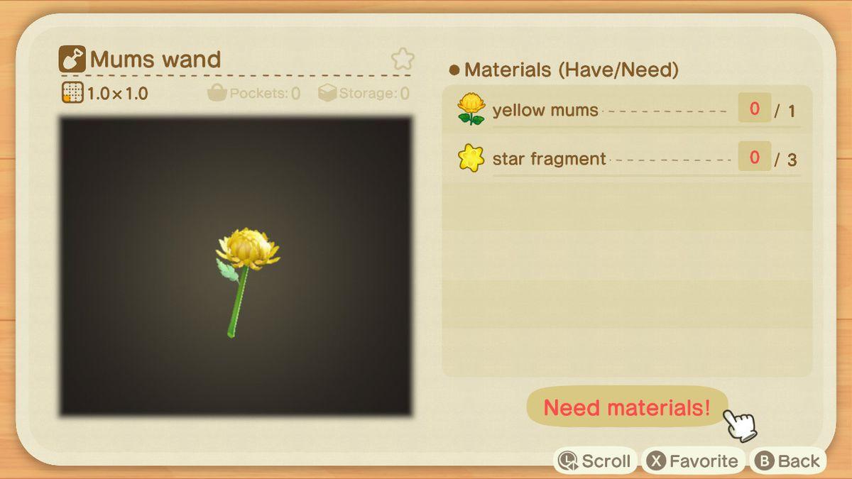 Una receta de Animal Crossing para una varita materna