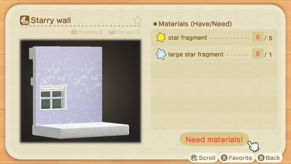 Muro estrellado en Animal Crossing New Horizons