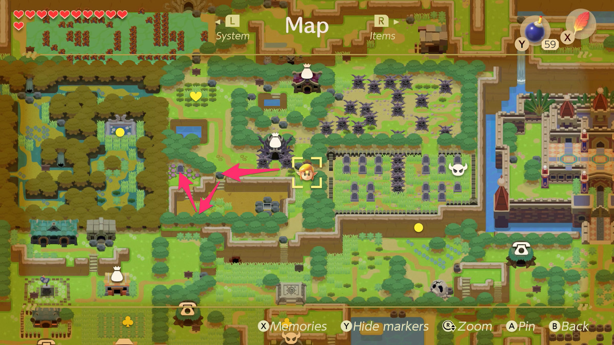 Link's Awakening golpea la tumba de Ghost