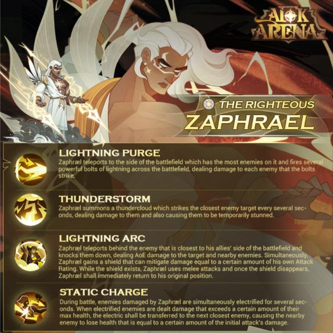 afk arena zaphrael nuevo héroe