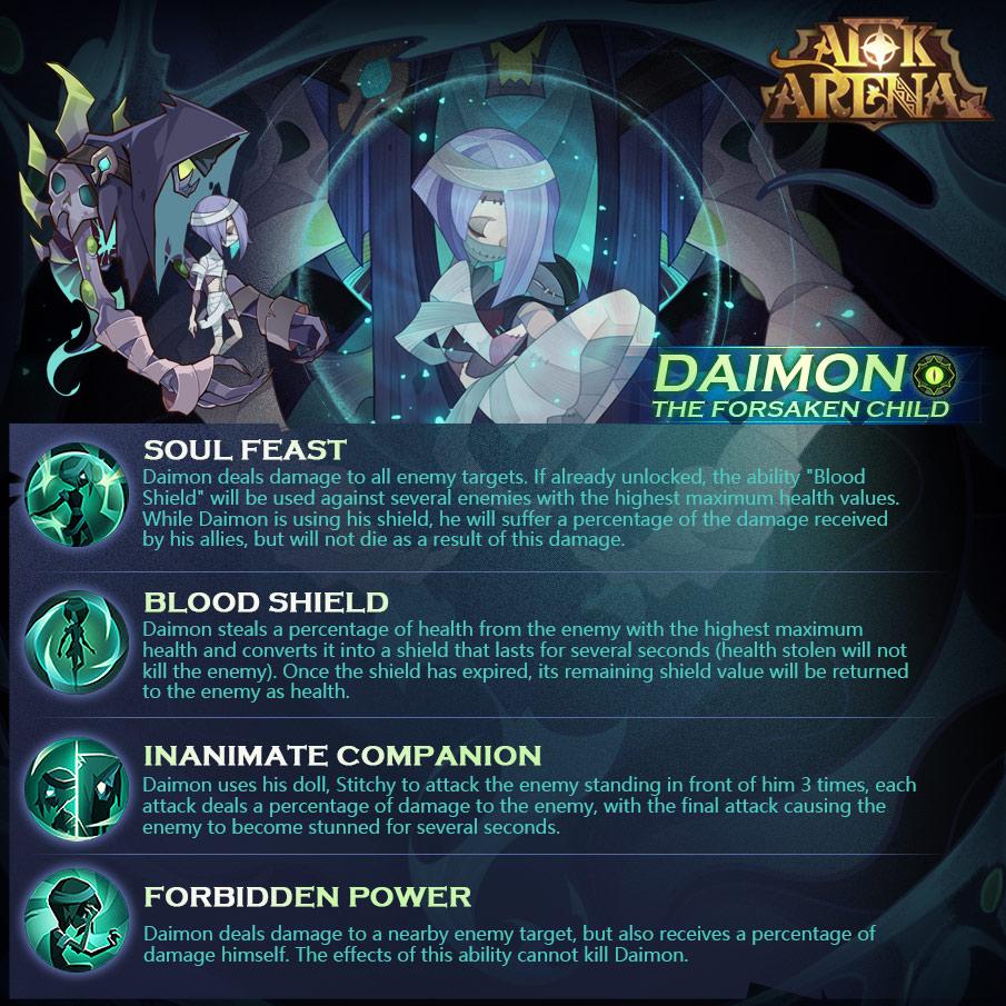 afk arena daimon nuevo héroe