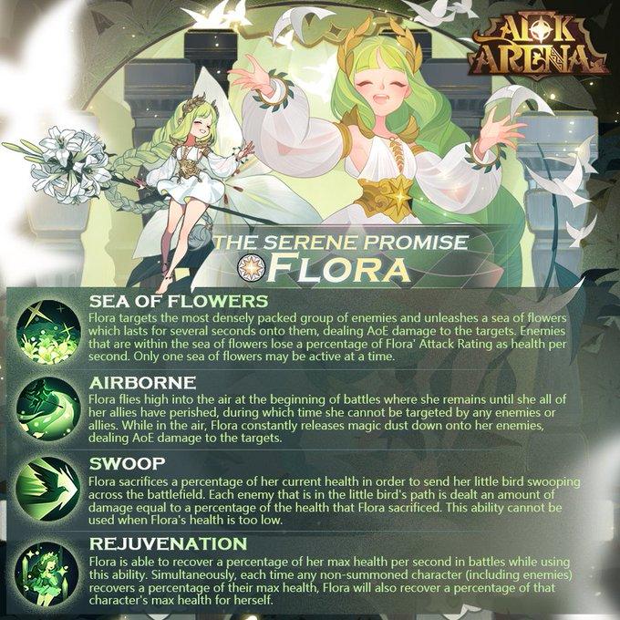 afk arena flora nuevo héroe