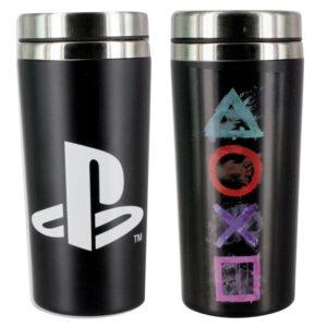 Vaso viaje logo iconos Playstation