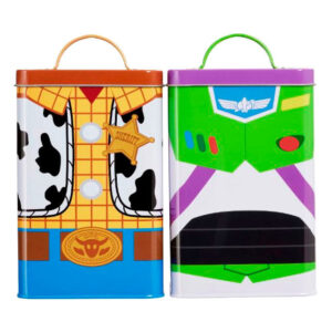 Set 2 latas almacenamiento Buzz & Woody Toy Story 4 Disney Pixar