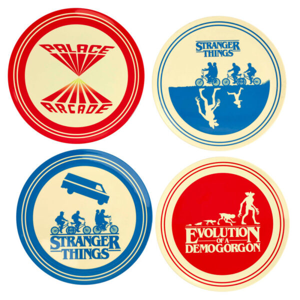Pack 4 platos melamina Silhouette Stranger Things
