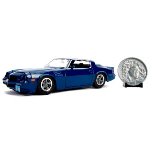 Set Coche metal Chevy Camaro 1979 Z28 Stranger Things & moneda