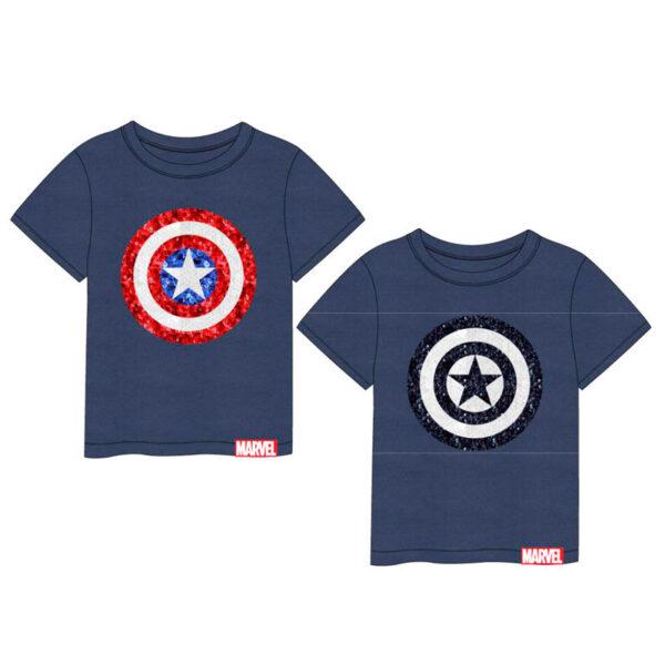 Camiseta lentejuelas Capitan America Vengadores Avengers Marvel