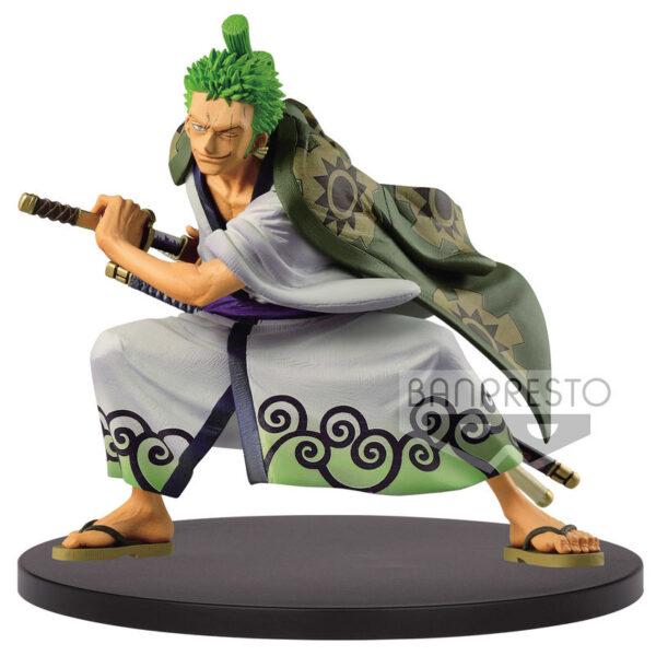 Figura The Ronroa Zoro Wano Kuni King of Artist One Piece 14cm