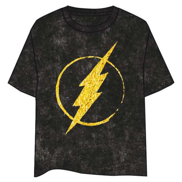 Camiseta Logo Flash Gold DC Comics adulto