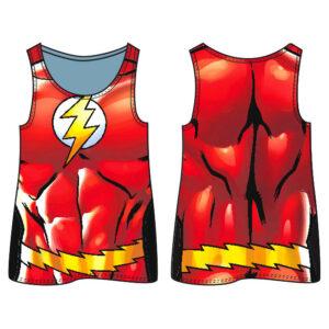 Camiseta agujeros Flash DC Comics adulto