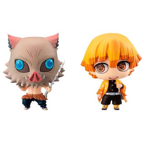 Pack 2 figuras Zenitsu and Inosuke Demon Slayer Kimetsu no Yaiba 7cm