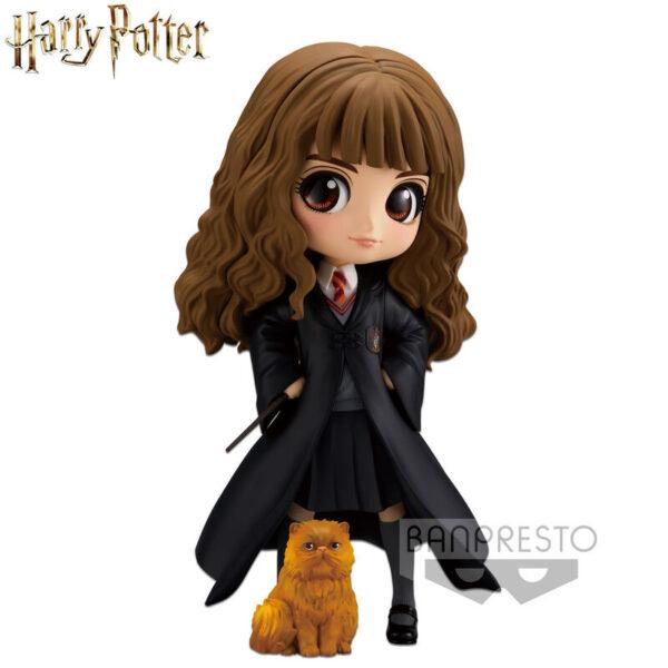 Figura Hermione Granger with Crookshanks Harry Potter Q Posket 14cm