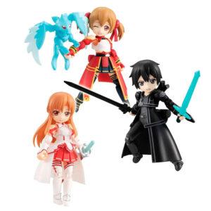 Figura Asuna and Kirito and Shirika Desktop Army Sword Art Online surtido 8cm