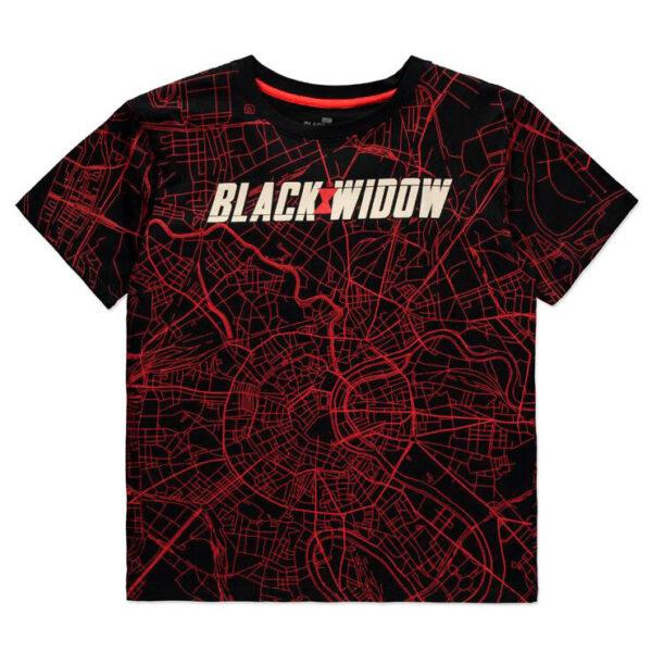 Camiseta mujer City Map Black Widow Marvel