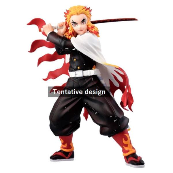 Figura Ichibansho Kyojuro Rengoku Mugen Train Demon Slayer Kimetsu No Yaiba 20cm