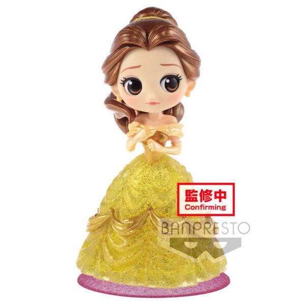 Figura Bella La Bella y la Bestia Disney Characters Glitter Q Posket 14cm