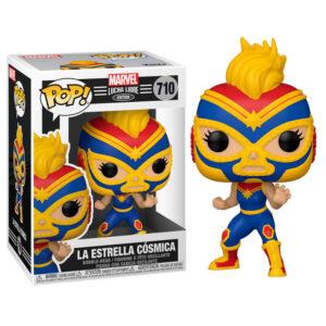 Figura POP Marvel Luchadores Captain Marvel La Estrella Cosmica