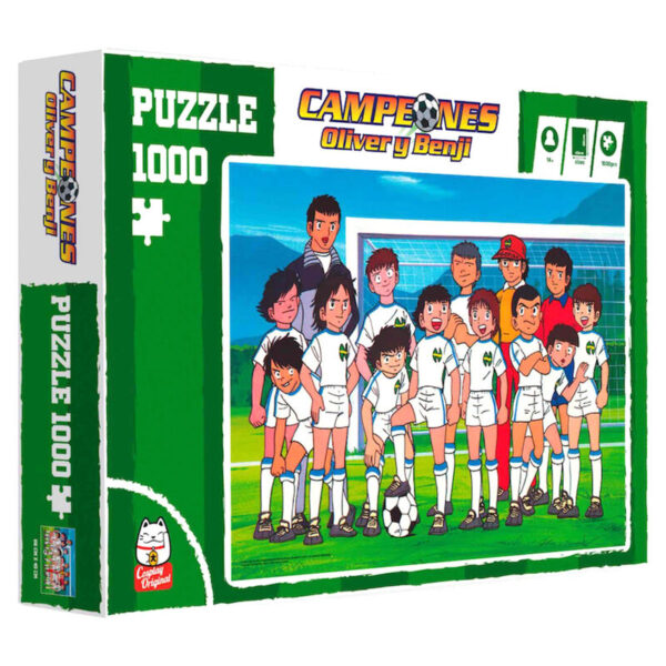 Puzzle Foto Equipo Campeones Oliver y Benji 1000pzs