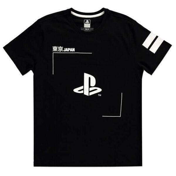 Camiseta Black and White Logo PlayStation