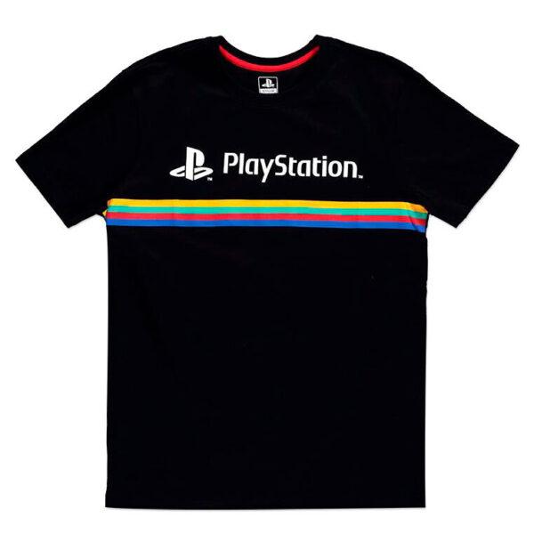 Camiseta Color Stripe Logo PlayStation