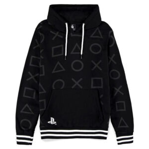 Sudadera capucha Black and White PlayStation